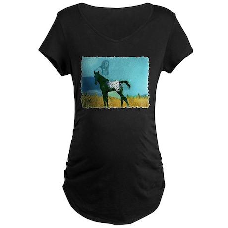 Nez Perce Pony Maternity Dark T-Shirt