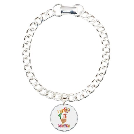 I Love Roosters Charm Bracelet, One Charm