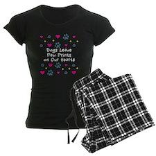 Dogs Leave Paw Prints Pajamas