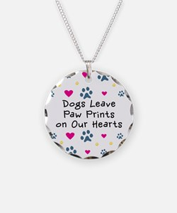 Dogs Leave Paw Prints Necklace