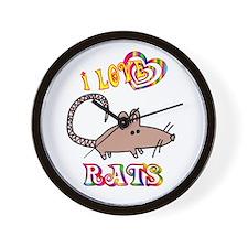 I Love Rats Wall Clock
