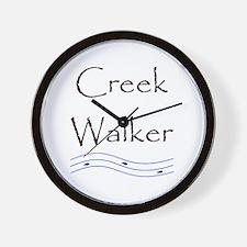 Creek Walking Wall Clock