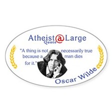 Oscar Wilde Quote truth and death Decal
