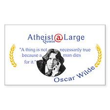 Oscar Wilde Truth and Death Decal