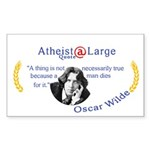 Oscar Wilde Truth and Death Sticker (Rectangle)