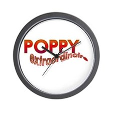 POPPY extraordinaire Wall Clock