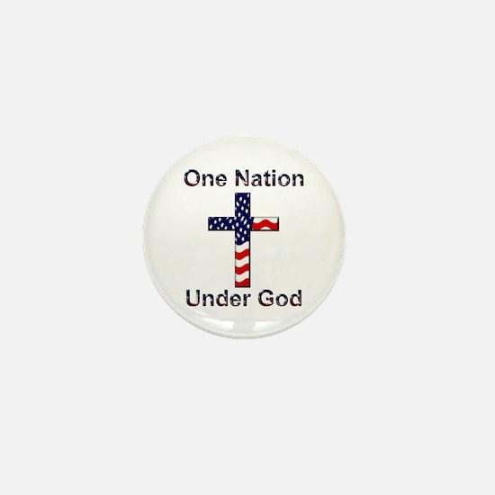 One Nation Under God Mini Button