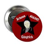 Arizona Against Gingrich campaign button