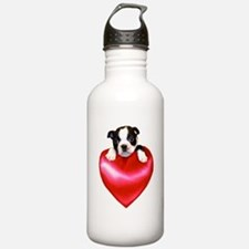 Love Boston Terrier Water Bottle