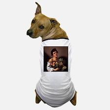 Boy with Basket of Fruit Dog T-Shirt