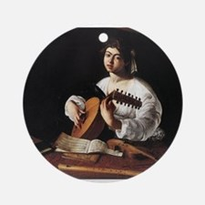 Lute Player Ornament (Round)