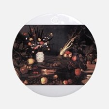 Still Life with Flowers and F Ornament (Round)