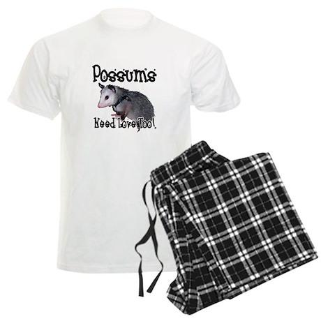 Possums Need Love Men's Light Pajamas