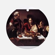 Supper at Emmaus Ornament (Round)