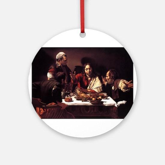 Supper at Emmaus Ornament (Round)