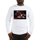 Caravaggio Long Sleeve White T-Shirts