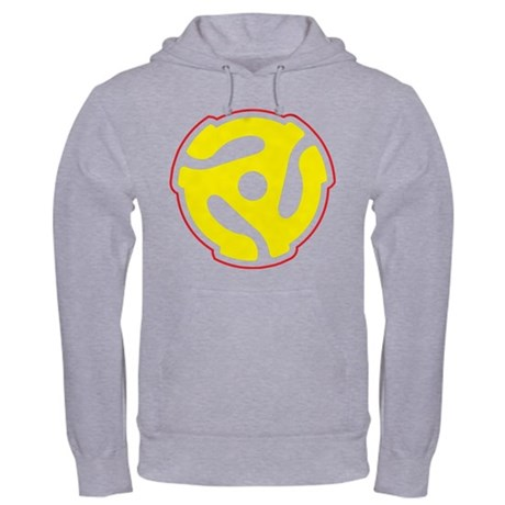 Record Player Spindle Adapter Hooded Sweatshirt
