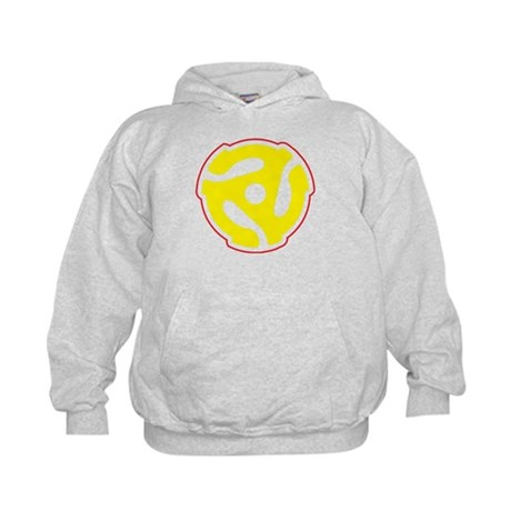 Record Player Spindle Adapter Kids Hoodie