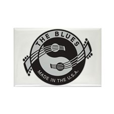 The Blues USA Rectangle Magnet
