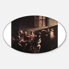 The Calling of Saint Matthew Sticker (Oval)