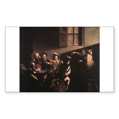 The Calling of Saint Matthew Sticker (Rectangle)
