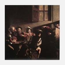 The Calling of Saint Matthew Tile Coaster
