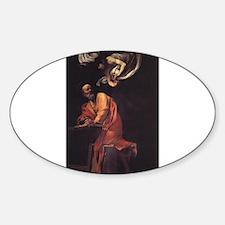 The Inspiration of Saint Matt Sticker (Oval)