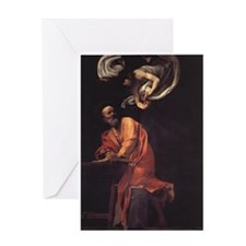 The Inspiration of Saint Matt Greeting Card