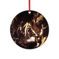 The Martyrdom of Saint Matthe Ornament (Round)