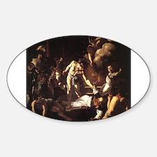 The Martyrdom of Saint Matthe Sticker (Oval)