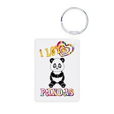 I Love Pandas Keychains