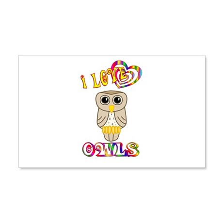 I Love Owls 22x14 Wall Peel
