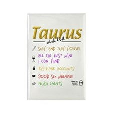 Taurus Wish List Rectangle Magnet