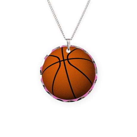 Basketball Mom Necklace Circle Charm