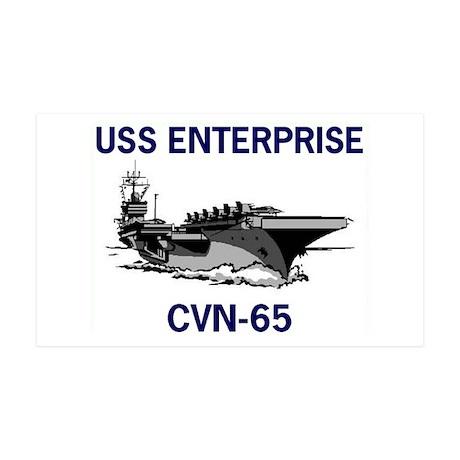USS ENTERPRISE 38.5 x 24.5 Wall Peel