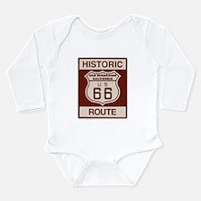 San Bernardino Route 66 Long Sleeve Infant Bodysui