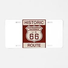 San Bernardino Route 66 Aluminum License Plate