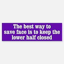 How to Save Face Bumper Bumper Sticker