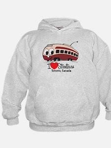 I Love Streetcars Toronto Hoodie