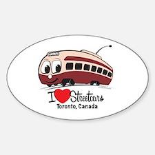 I Love Streetcars Toronto Decal