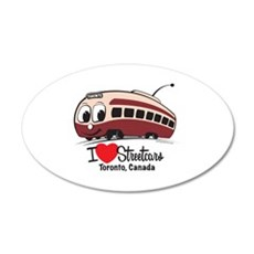 I Love Streetcars Toronto 22x14 Oval Wall Peel