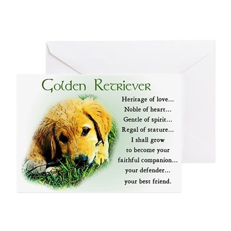 Golden Retriever Gifts Greeting Cards (Package of