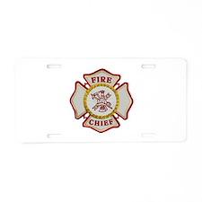 Fire Chief Maltese Aluminum License Plate