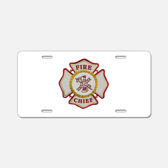 Fire Chief Maltese Aluminum License Plate