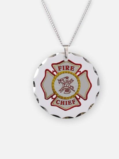 Fire Chief Maltese Necklace