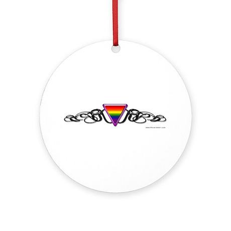Gay Pride Tribal Ornament (Round)