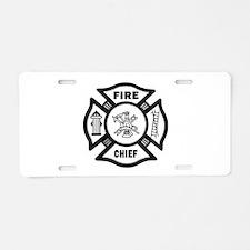 Fire Chief Aluminum License Plate