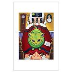 Alien Abduction ~ Cat Large Poster