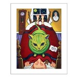 Alien Abduction ~ Cat Small Poster