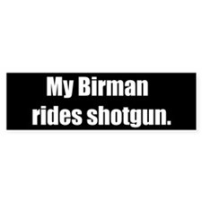 My Birman rides shotgun (Bumper Sticker)